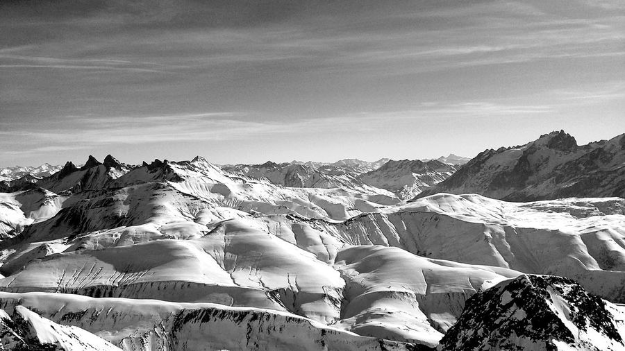 France Alpes D'huez Skicamp Mountain View Black And White Photography Nature_collection Nature Mobile Photography Monochrome Photography