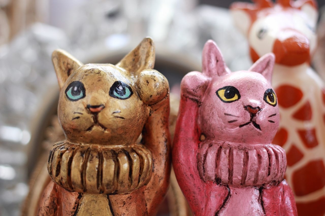 Handmade For You Animal Representation Creativity Focus On Foreground Close-up No People Figurine  Indoors  Day Cat 招き猫