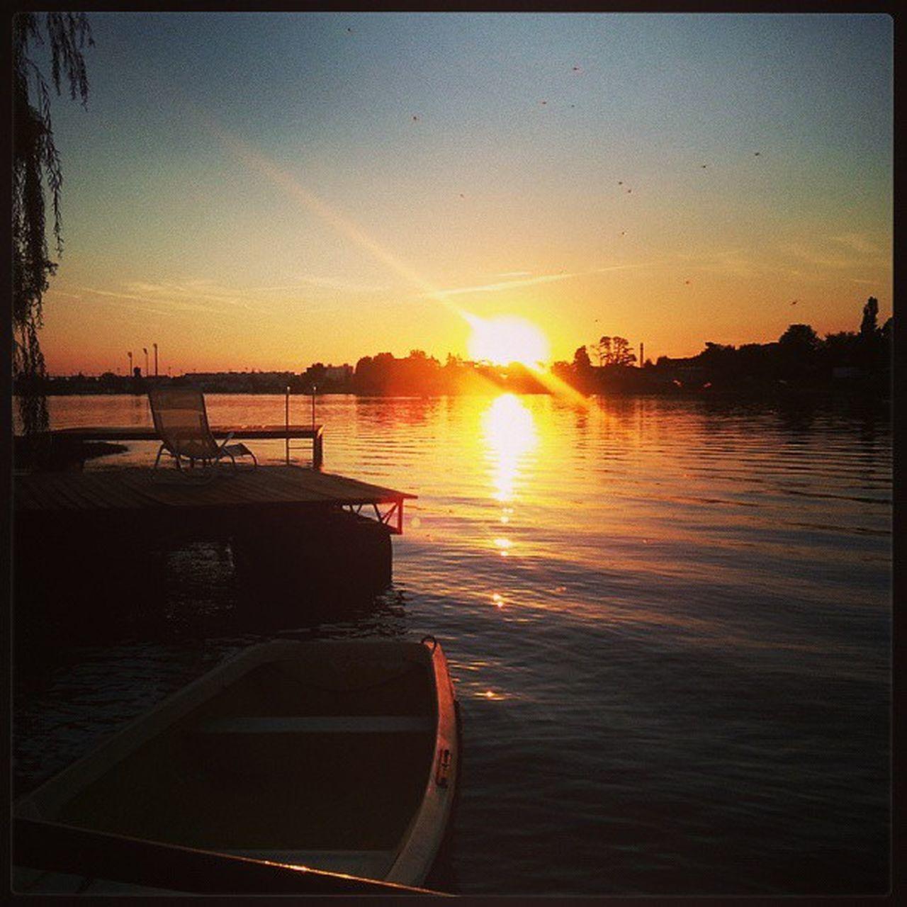 Sunset at Slnecne Jazera Lakes  at Senec, Slovakia.