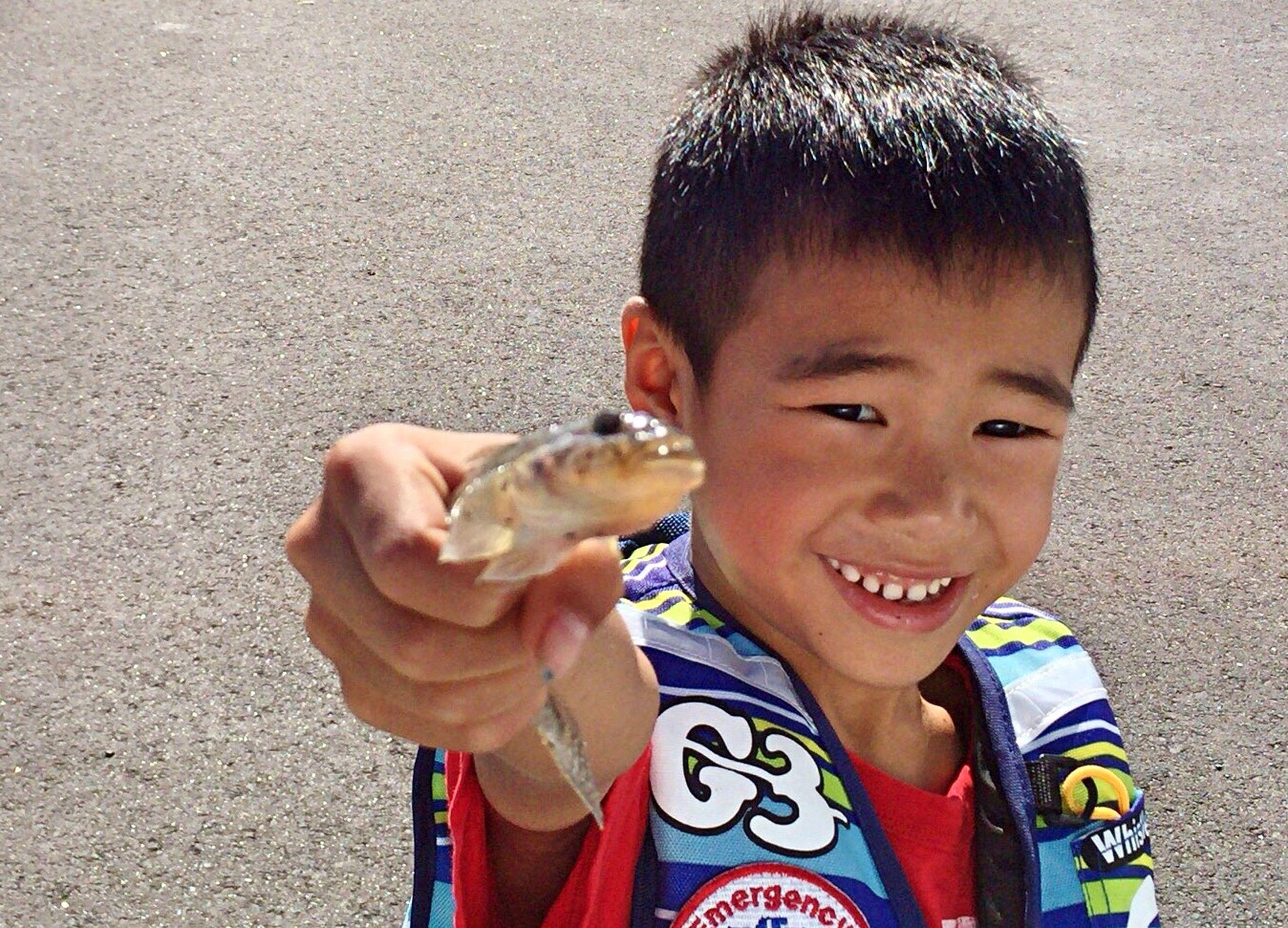Hi! Hello World Enjoying Life Fishing Smile Gobies Smiling Forever