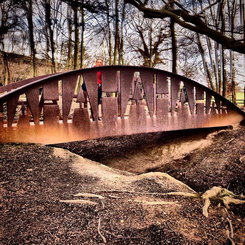 Laughing bridge at Yorkshire Sculpture Park. Bridge Bridge - Man Made Structure Bridges Bridgeporn Bridgesaroundtheworld Yorkshire Sculpture Park Picoftheday