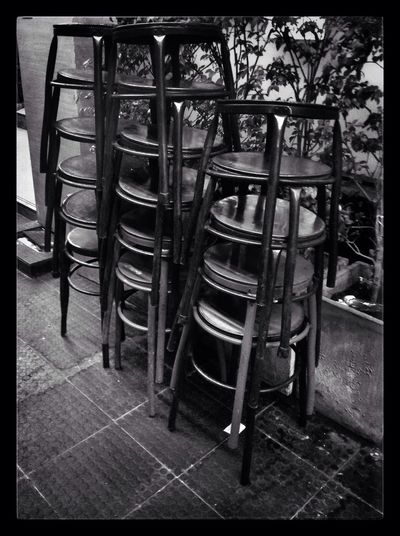 Bar Stools Soi Convent Black & White Street Photography