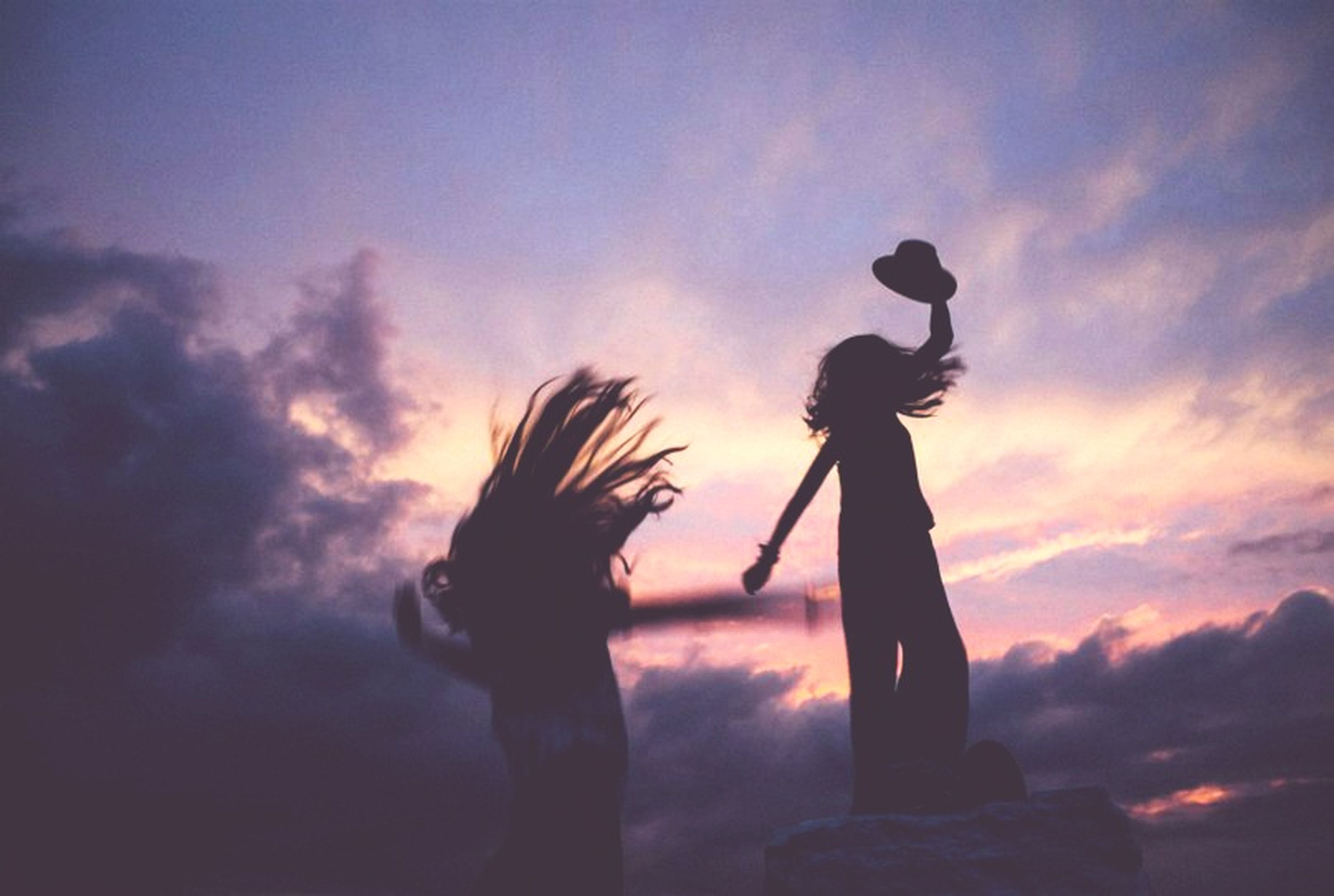 silhouette, sunset, sky, cloud - sky, real people, one person, nature, full length, outdoors, low angle view, standing, beauty in nature, men, leisure activity, lifestyles, day, people
