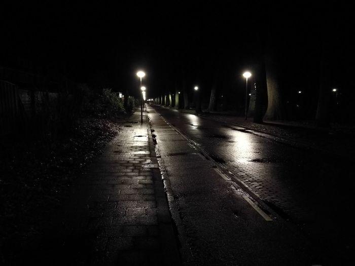 Night walk. Nice glossy reflections because of rain. Night Wet No People Road Illuminated Outdoors First Eyeem Photo HuaweiP9 Huawei P9 Leica Leica Lens