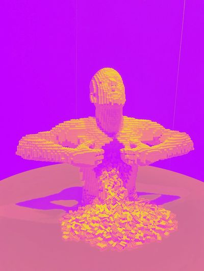 The art of the Brick The Art Of The Brick Pink Color Pink Background Purple Colored Background Multi Colored No People Studio Shot