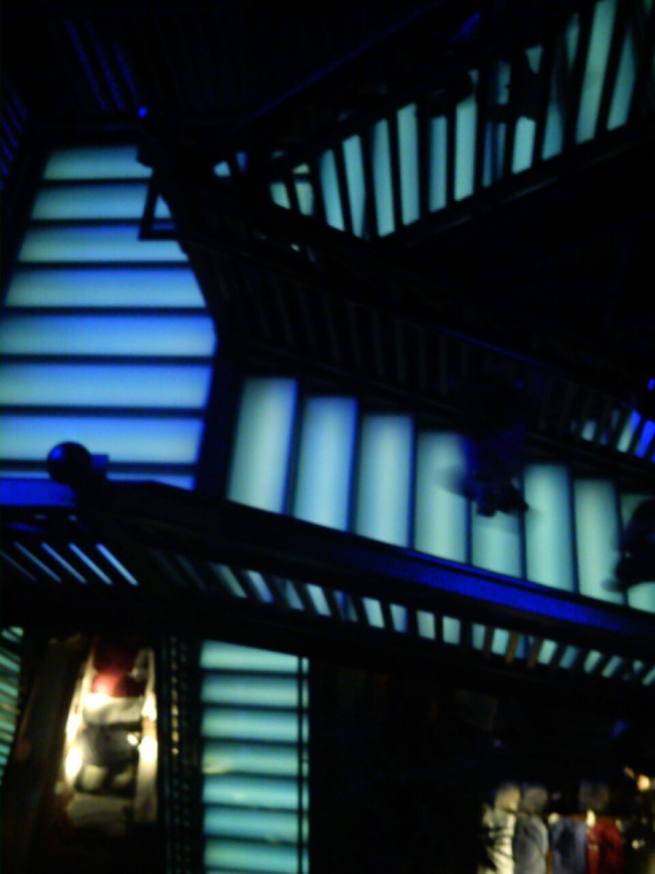 Indoors  Silhouette Staircase Architecture Illuminated Exit Sign Day People Up And Down Blue Black EyeEmNewHere EyeEm Best Shots The Week On EyeEm No Filter, No Edit, Just Photography Urban