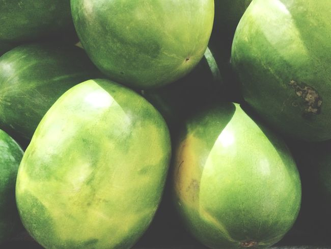 Those Melons Fresh Fruits At The Market