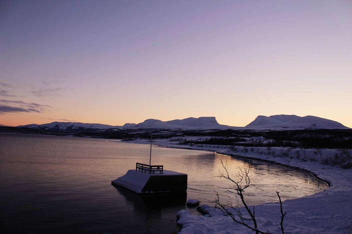 Abisko Nationalpark Nord Sweden Kiruna Sunrise Sunset Capture The Moment Beauty In Nature Lost In Nature Winterwonderland Landscape Mountain No People Outdoors