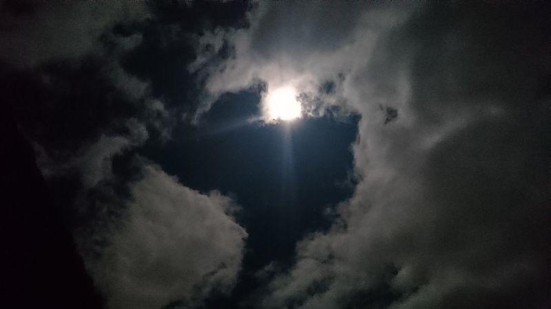 Noedit Nofilter Moonlight ♥ Goodnight EyeEm Skyporn Cloudporn Sky Beauty In Nature No People Thanksgod