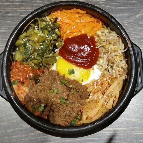 Beef Bibimbap from Bibimharu . 비빔밥 비빔밥와플 Koreanfood