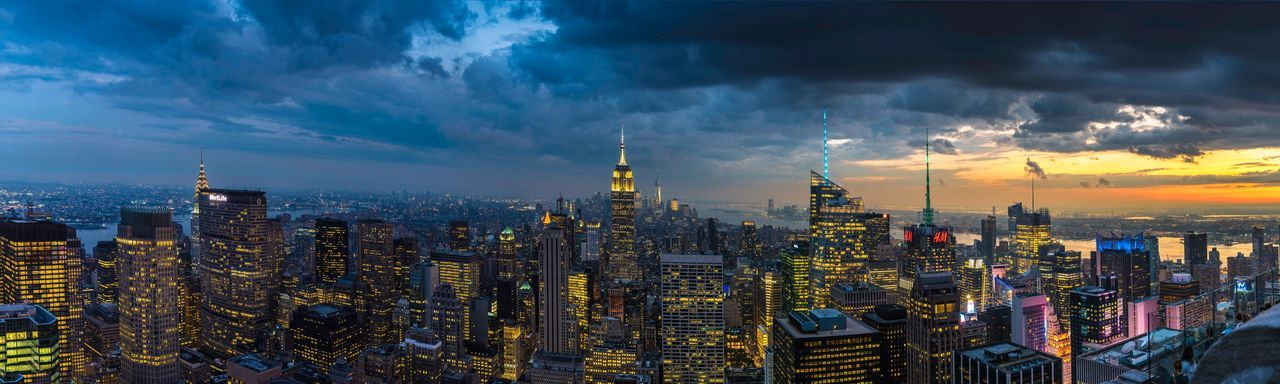 Dayandnight New York New York City Sunset Cityscapes Cityscape Nightphotography Night Lights Travel Destinations Travel Photography Architecture Battle Of The Cities