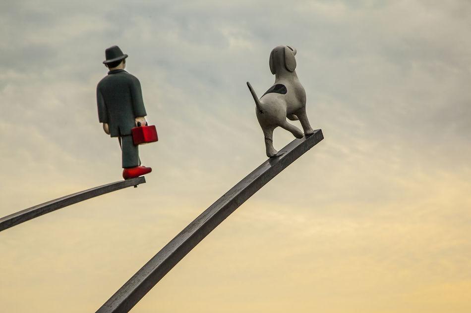 Naksan Park Gentleman And Dog Sky Cloudy Seoul Korea Haewhadong