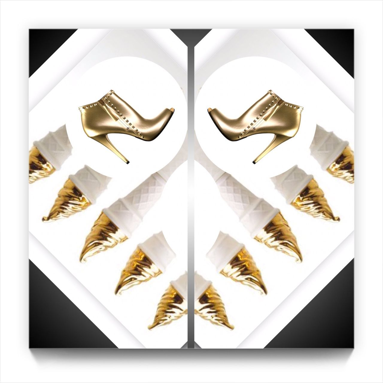 Fashion Design Fashion Photography Fashion Designer  Day Design Shoe Shoes Luxury White Background Picture Frame Digital Composite Composite Image Collage Gold Colored No People Multiple Image Close-up