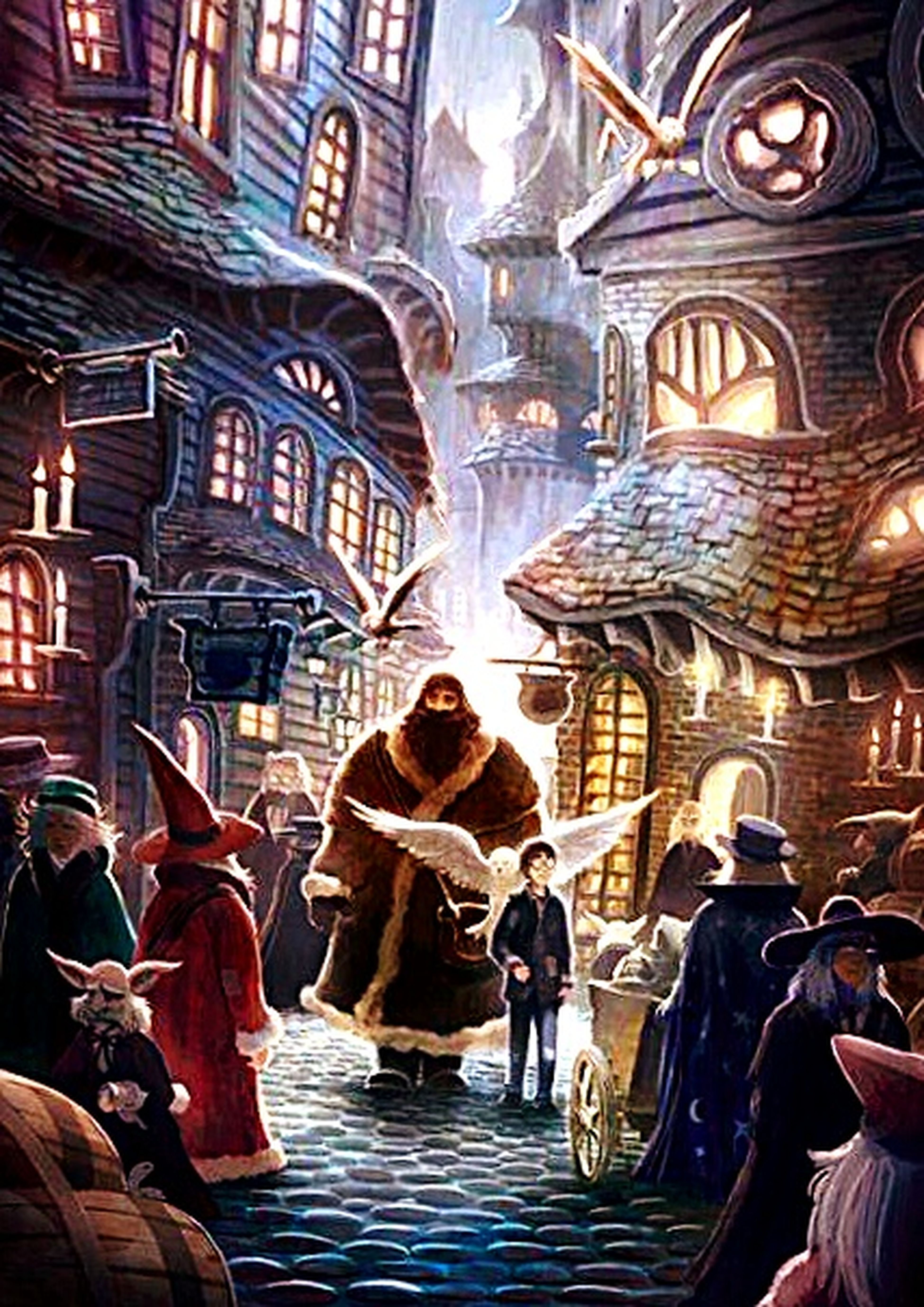 Potterhead Harry Potter First Day In Hogsmead Hagrid