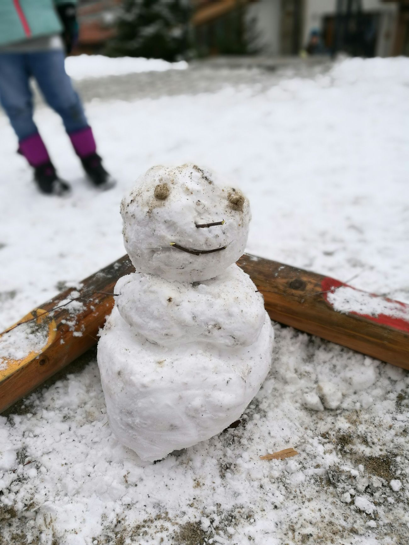 Snow ❄ Snowman⛄ Outdoors Cold Temperature Winter Snow Day Close-up Nature Funny Faces Funny