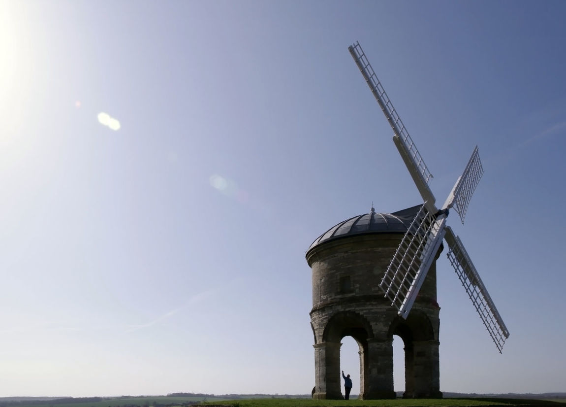 Arches Blue Chesterton Windmill Day Landscape Lens Flare Sun Low Angle View Outdoors Person Renewable Energy Rural Scene Sails Sky Traditional Windmill Tranquil Scene Warwickshire Wind Power Windmill Showcase June Fine Art Photography