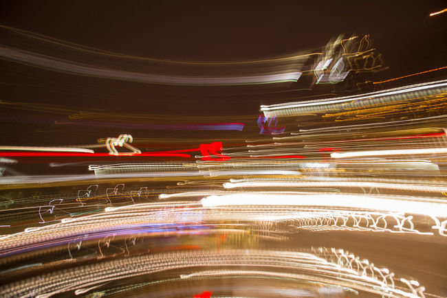 43 Golden Moments Abstract Abstraction In Colors Blurred Motion City City Life City Street Glowing Illuminated Light Light Trail Lighting Equipment Motion Multi Colored Night No People Outdoors Road Sky Travel Destinations