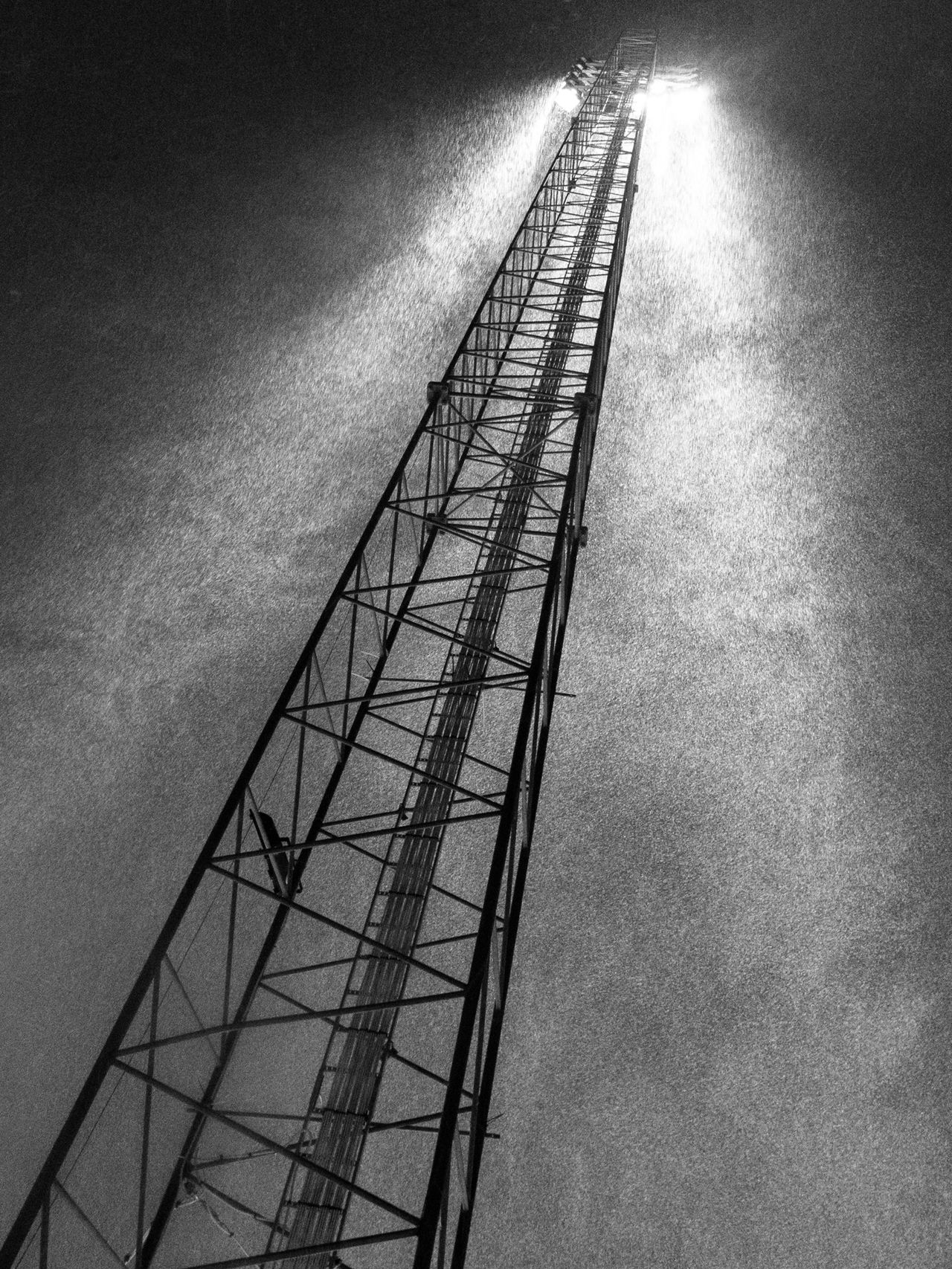 Stairway to heaven Architecture Black And White Winter Engineering Light And Shadow Metallic Objects Snowfall Zinkensdamm Silhouette Showcase: November Fine Art Photography Dramatic Angles Monochrome Photography