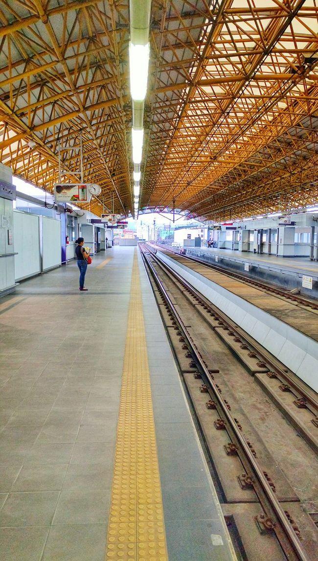 First Eyeem Photo Train Station Waiting Architecture Manila Philippines Lrt2 Showcase April My Commute