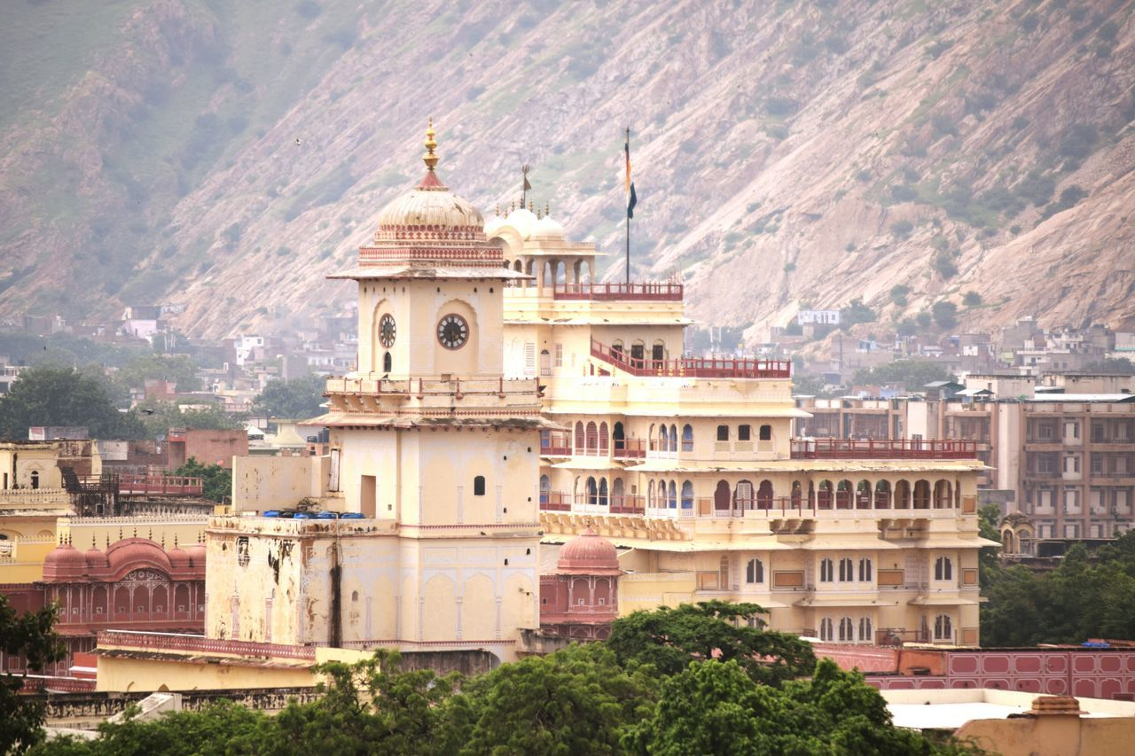 Ashish's Canvas ..palaces and mountains all around..jaipur Jaipur,India City Historical Monument Travel Destinations History City Architecture