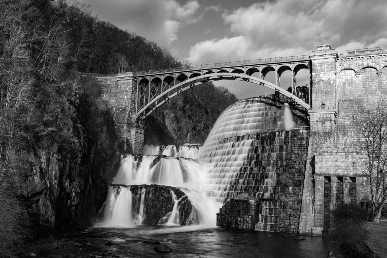 Croton Gorge Park Arch Arch Bridge Architecture B&w Black & White Black And White Bridge Bridge - Man Made Structure Built Structure Canal Connection Croton Gorge Park Day Engineering Footbridge Forest Leading No People Old Reflection River Ruined Water Westchester
