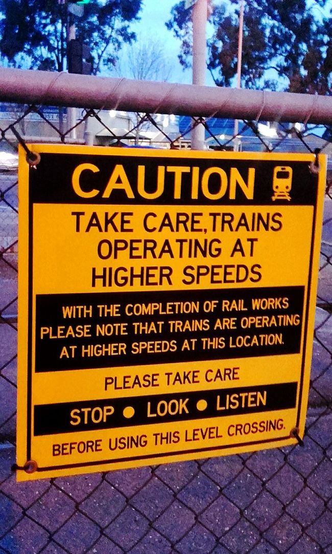 Signporn Train Sign Level Crossing Signs, Signs, & More Signs Sign Signs & More Signs Caution ⚠️ Signs_collection SIGN. Signs Signstalkers Caution Sign Sign, Sign, Everywhere A Sign Signage Warning Sign Caution Stop Look And Listen Train Signs Stop Look Listen Stop-look-listen Signs Signs Everywhere Signs Signboard Train Crossing Railway Crossing Take Care