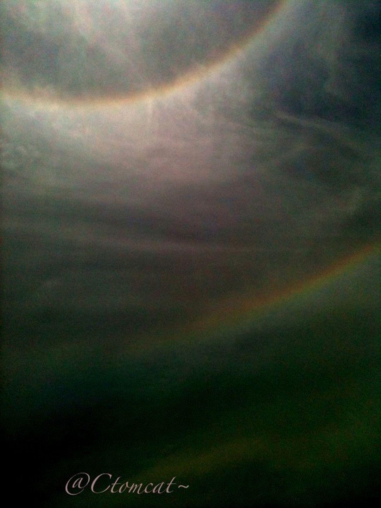 Double rainbow orb around sun