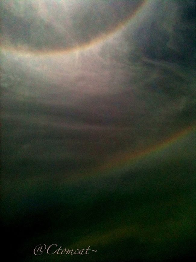 Double rainbow orb around sun