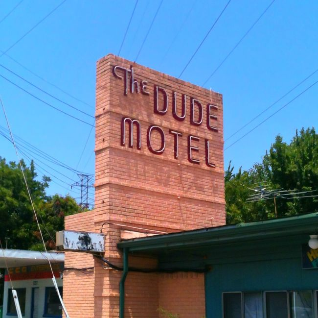 The Dude Abides The Dude Motel. Haltom City Texas Motel The Big Lebowski Neon Sign Retro Urbanphotography