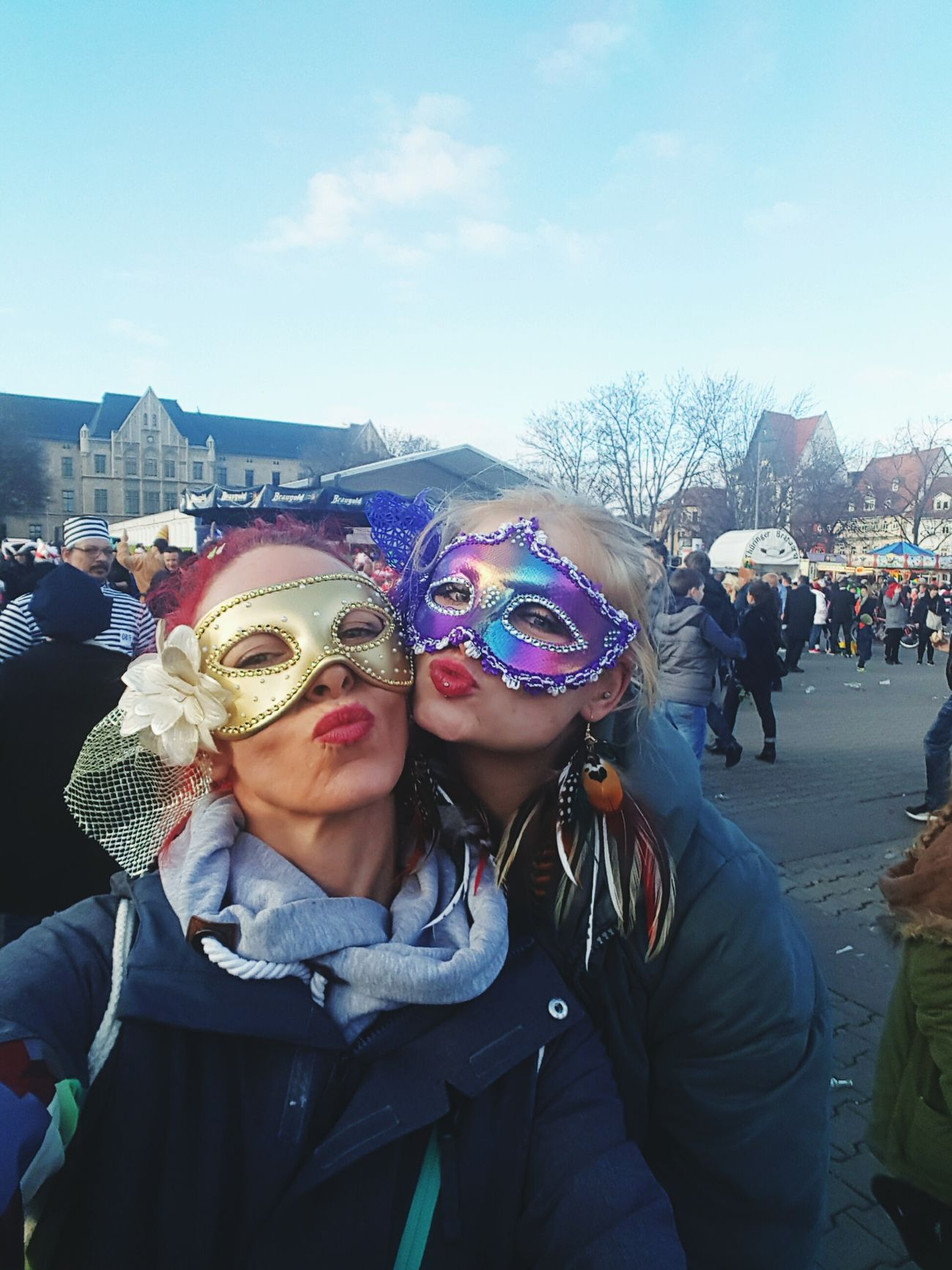 KARNEVAL Celebration Outdoors People Day Young Women City Carneval That's Me Eye Em Best Shots Today's Hot Look Friendship Hood - Clothing