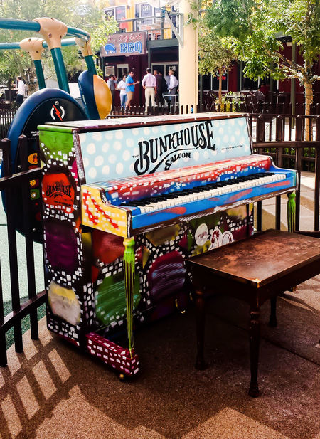Arts Culture And Entertainment Multi Colored Outdoors Day Vegas  Piano Art Art Installation Sommergefühle Vegas  Container Park Las Vegas, EyeEmNewHere