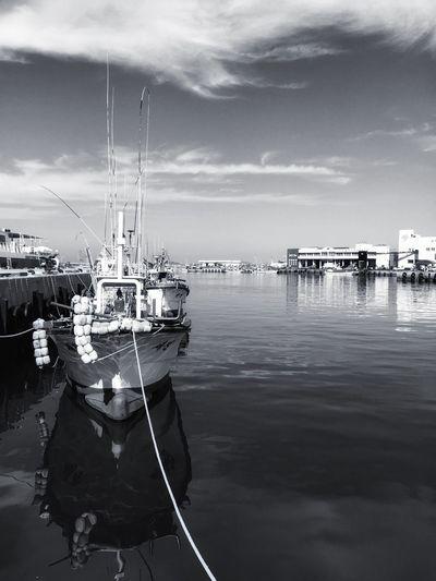 Mosuelpo port in Jeju island, Korea IPhoneography Monochrome Still Life Landscape_bw JEJU ISLAND  Korea Port Fishing Boat