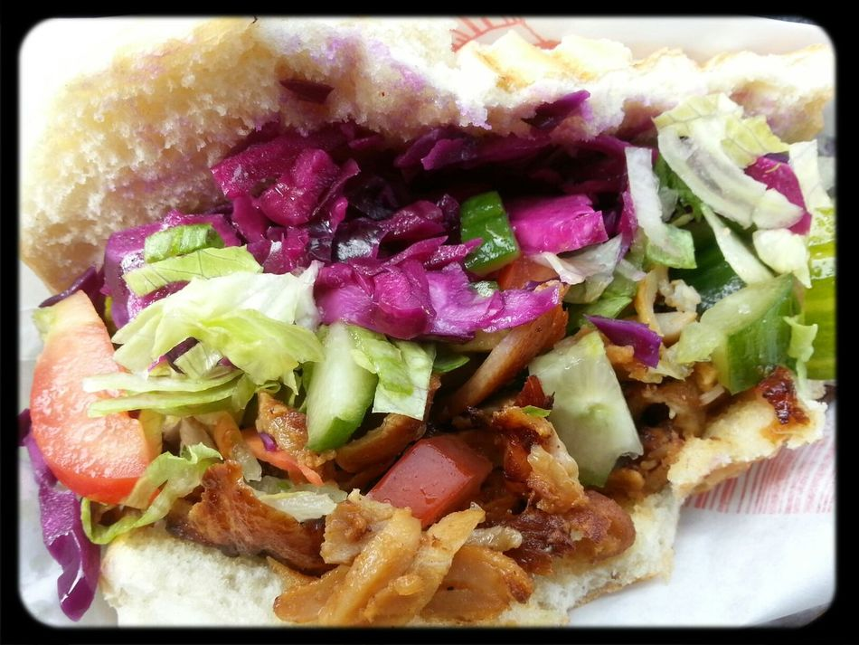 lunch brake, my choice chicken doner Eating Food Tasty Lunch