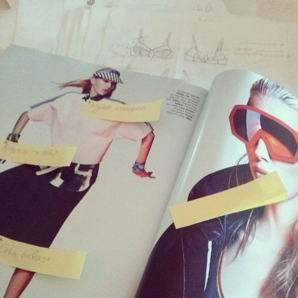 Fazendo pesquisa das novas tendências. VoguePortugal Maio Sport SportSpice Summer tecidos têxtil ProjetoVolcom Work Fashion FashionDesigner Draws