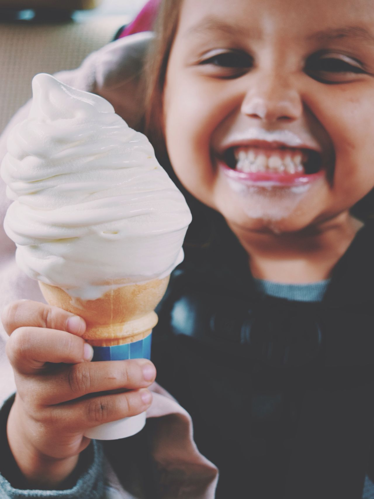 Ice Cream Icecream Food Happy Yummy Expression Face Dirty Kids Being Kids Children Kids Child Childhood Kid Happiness CarRides Closeup Daughter Girl Messyface Fun Cheese! Eating Enjoying Life Show Us Your Takeaway!