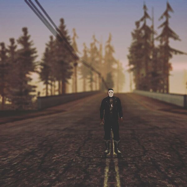 Only Men Full Length One Person One Man Only Adult Adults Only Walking Road People Outdoors Winter Men Day Sport Cold Temperature Tree Real People Sky Warm Clothing Gtasa GTAStuff Carljohnson Ingamephotography