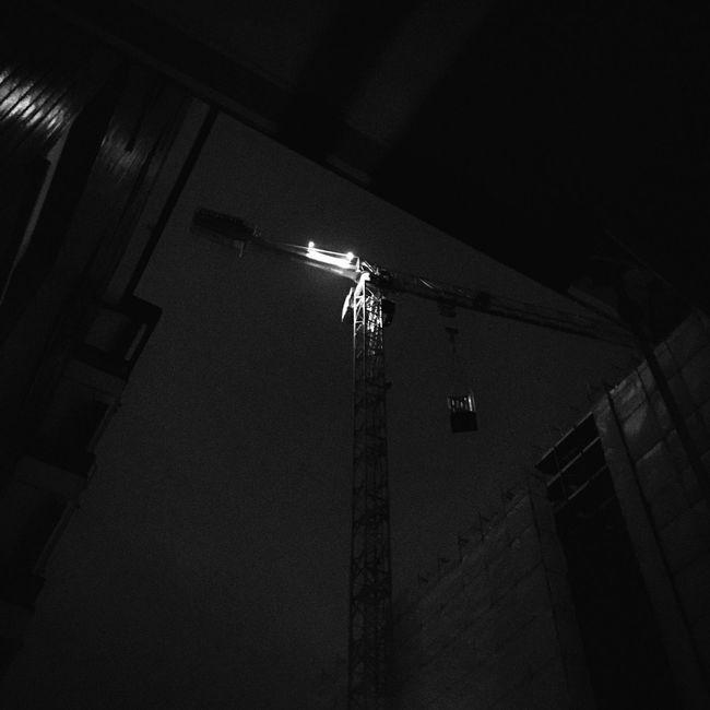 Hoist Building Night Noise Milano Italy David De La Cruz Delacruzfotografia Blackandwhite Black & White Blackandwhite Photography