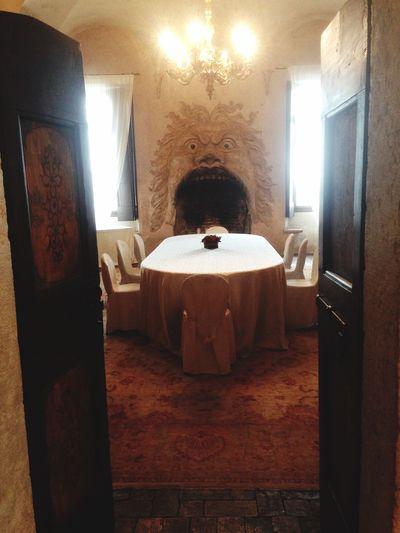 In the mouth of a mitological monster! Villa Della Torre, Fumane Allegrini Estates, Valpolicella Fireplace Art Italy
