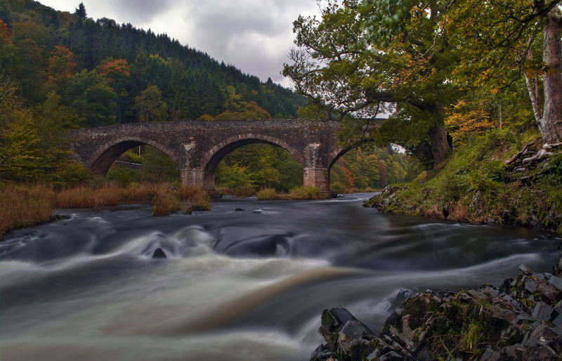 Yair Bridge. Architecture Autumn Beauty In Nature Bridge Bridge - Man Made Structure Connection Fall Flowing Flowing Water Long Exposure Motion Outdoors River River Tweed Tree Trees Water Yair