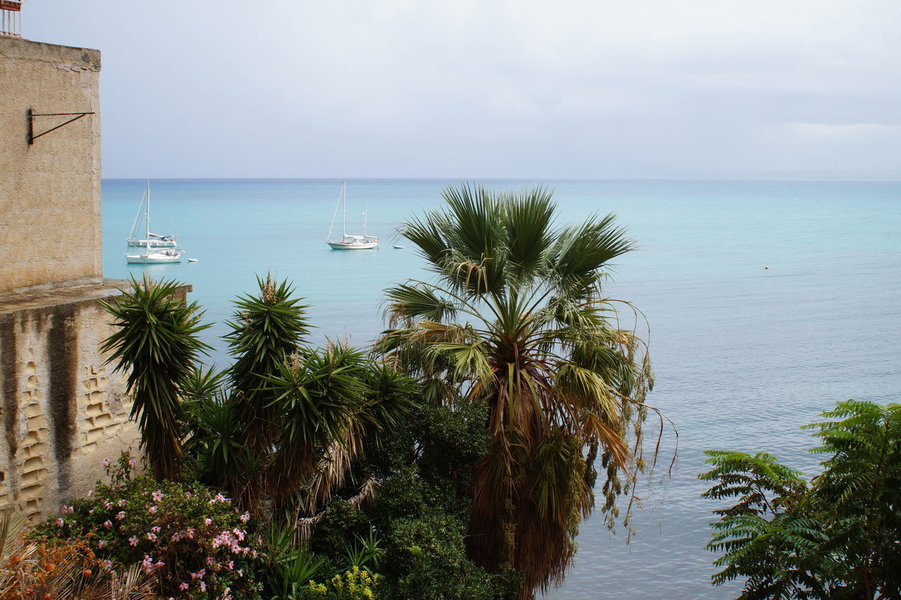 views in Sicily Blue Sky Castellammare Del Golfo Italy Orange Color Panoramic Landscape Panoramic View Sea Sicilia Sicily