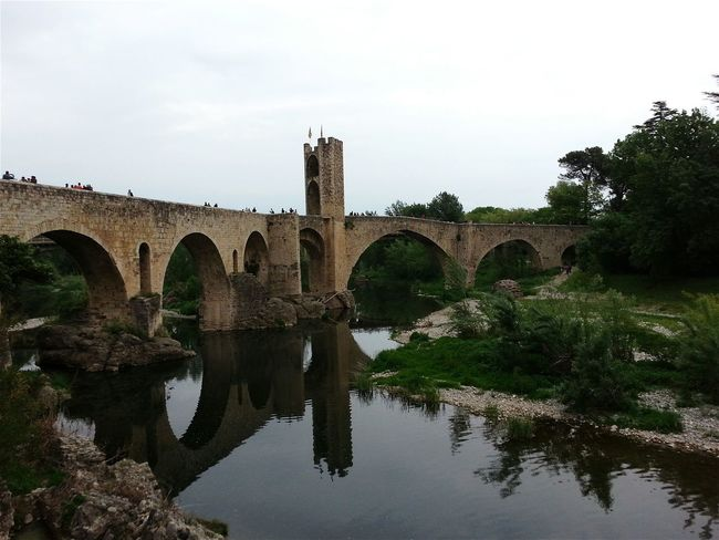 Bridge Medieval Water Water Reflections Reflections Nature Nature_collection Travel Holidays Besalú