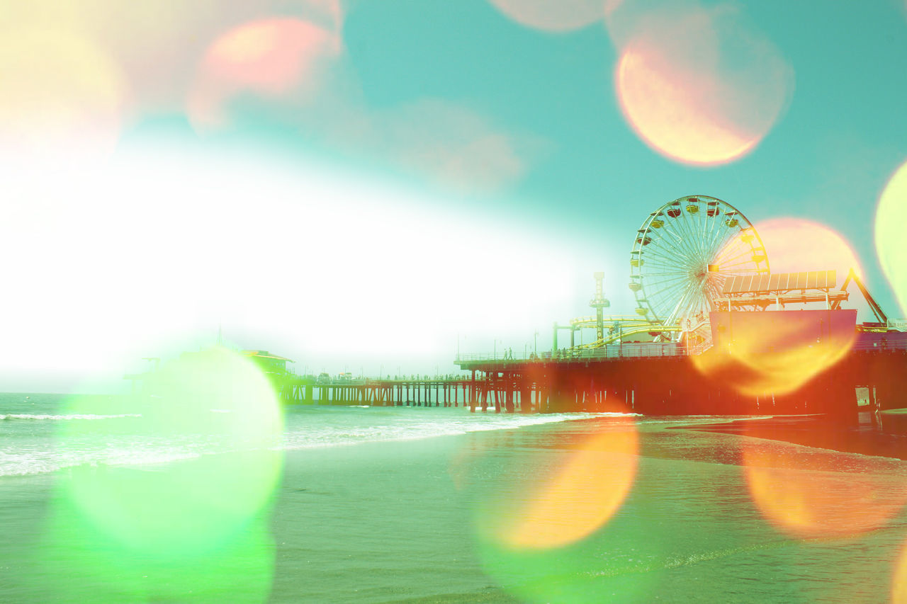 Santa Monica Pier with digital art effects by Christine aka stine1 Santa Monica Pier Amusement Park Digital Art Digital Art Photo Digital Artist Digital Artwork Ferris Wheel Nature No People Outdoors Sky Stop Image Theft Stopimagetheft Water