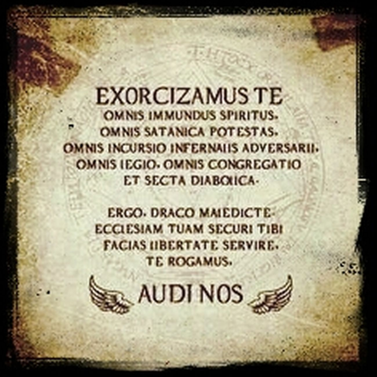 Sometimes all you need is a Supernatural help. ... Exorcizamus Te