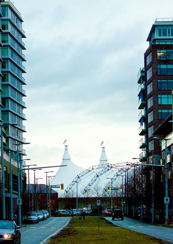 What's happening around Vancouver British Columbia, Canada - Cavaliers Odysseo In Vancouver Building Exterior Built Structure Architecture Sky City No People Outdoors Cloud - Sky Modern Day Canon Photograpy Canon T3i Streetphotography Random