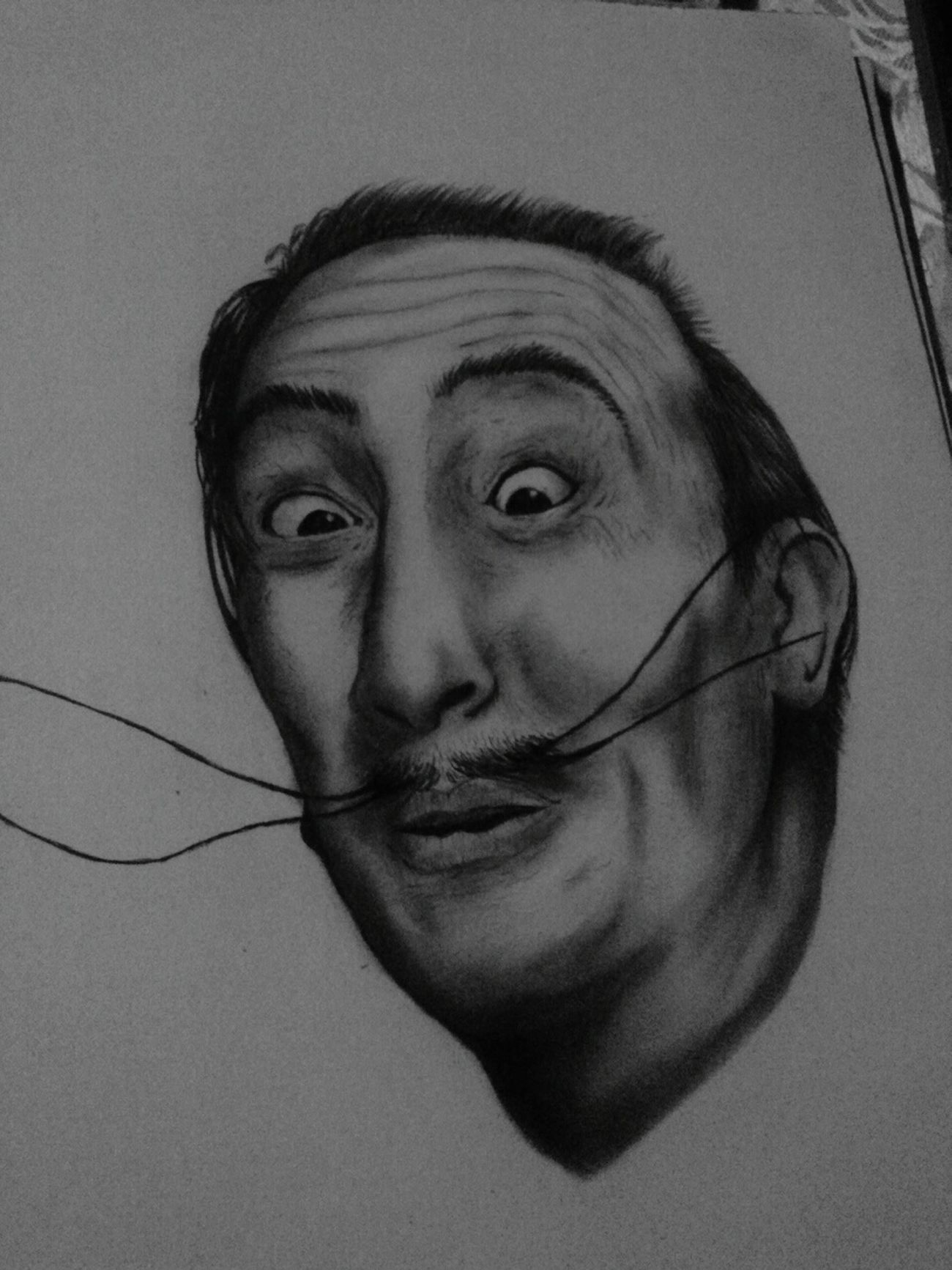 Dibujo A Lapiz Follow4follow Salvador Dali Salvadordali Rostro Dibujoartistico Negro Carboncillo Darwing Art
