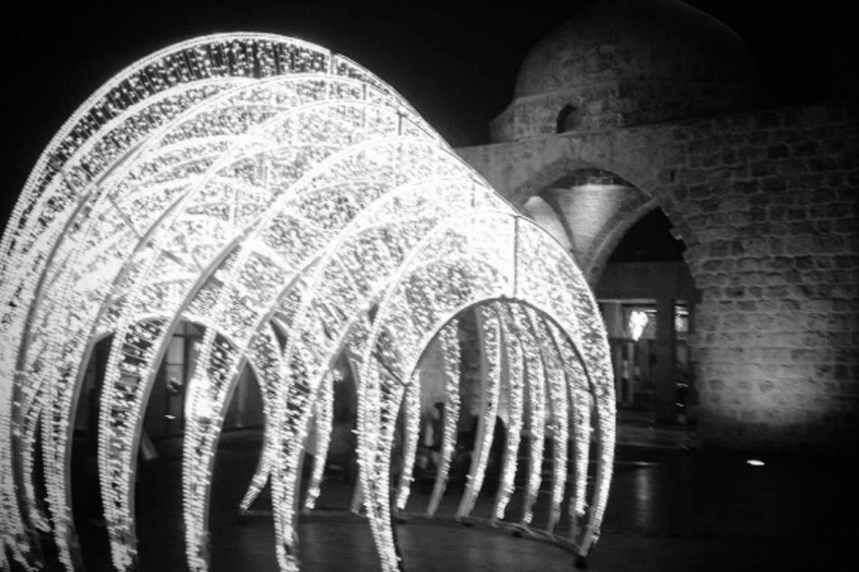 Welcome To Black Welcome To Black Beirut Christmas Lights Black And White