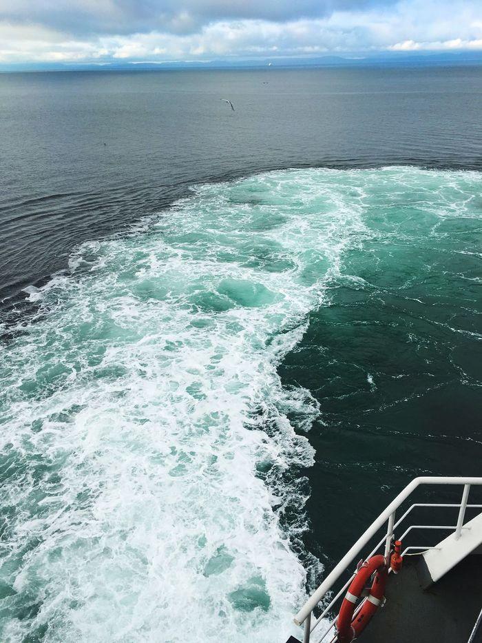 Canada British Columbia Onboard Sea And Sky Ocean View Ocean Cruise Ship Eye4photography  Estela De Mar Bow Wave Boat Wake