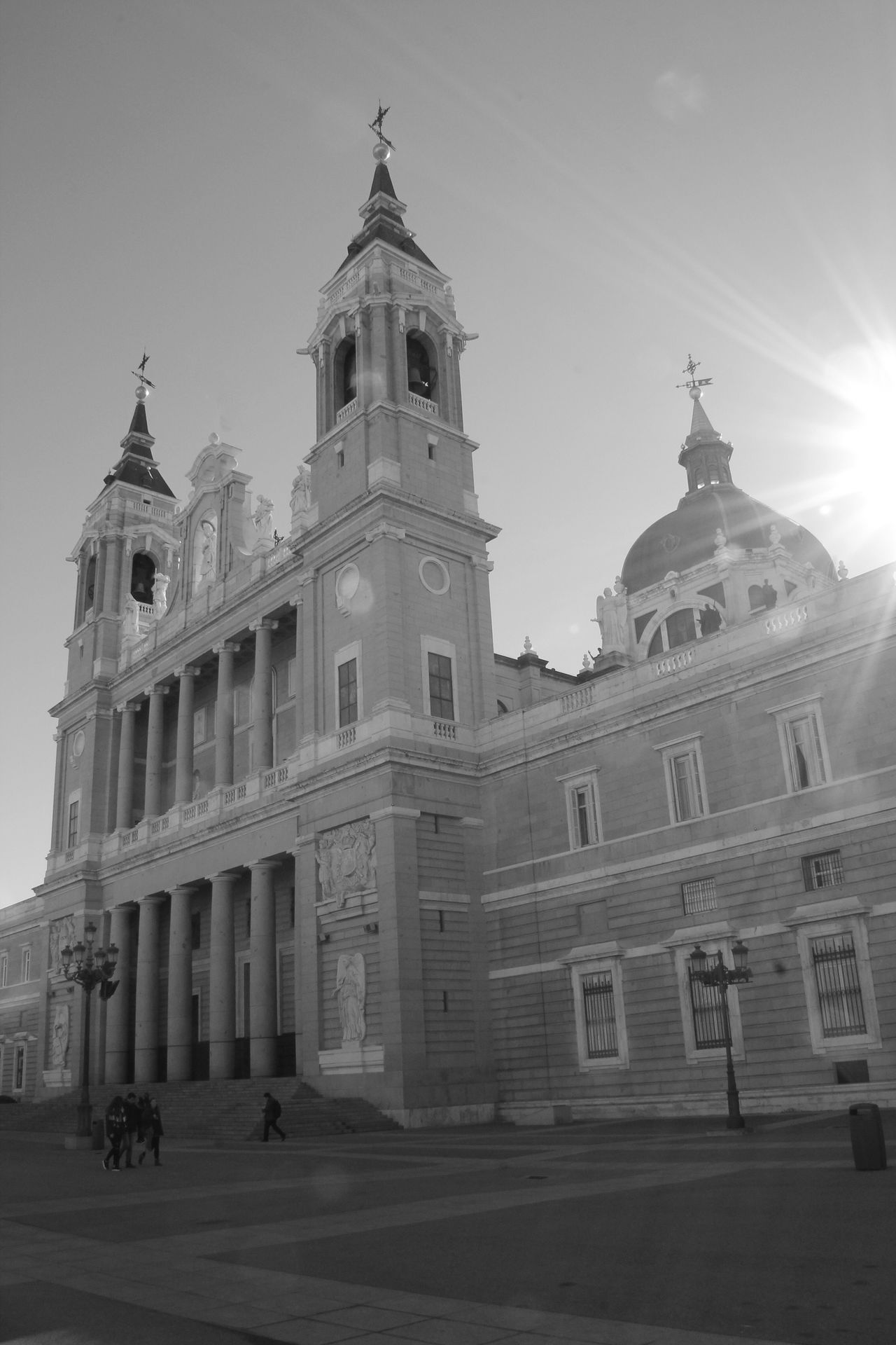 Architecture Building Exterior Built Structure Religion Place Of Worship Spirituality Sky City Outdoors Travel Destinations No People Dome Day Catedral De Almudena Hanging Out Check This Out Enjoying Life Taking Photos EyeEm Best Shots Streetphotography Blackandwhite Architecture Church Sunbeam Sunlight