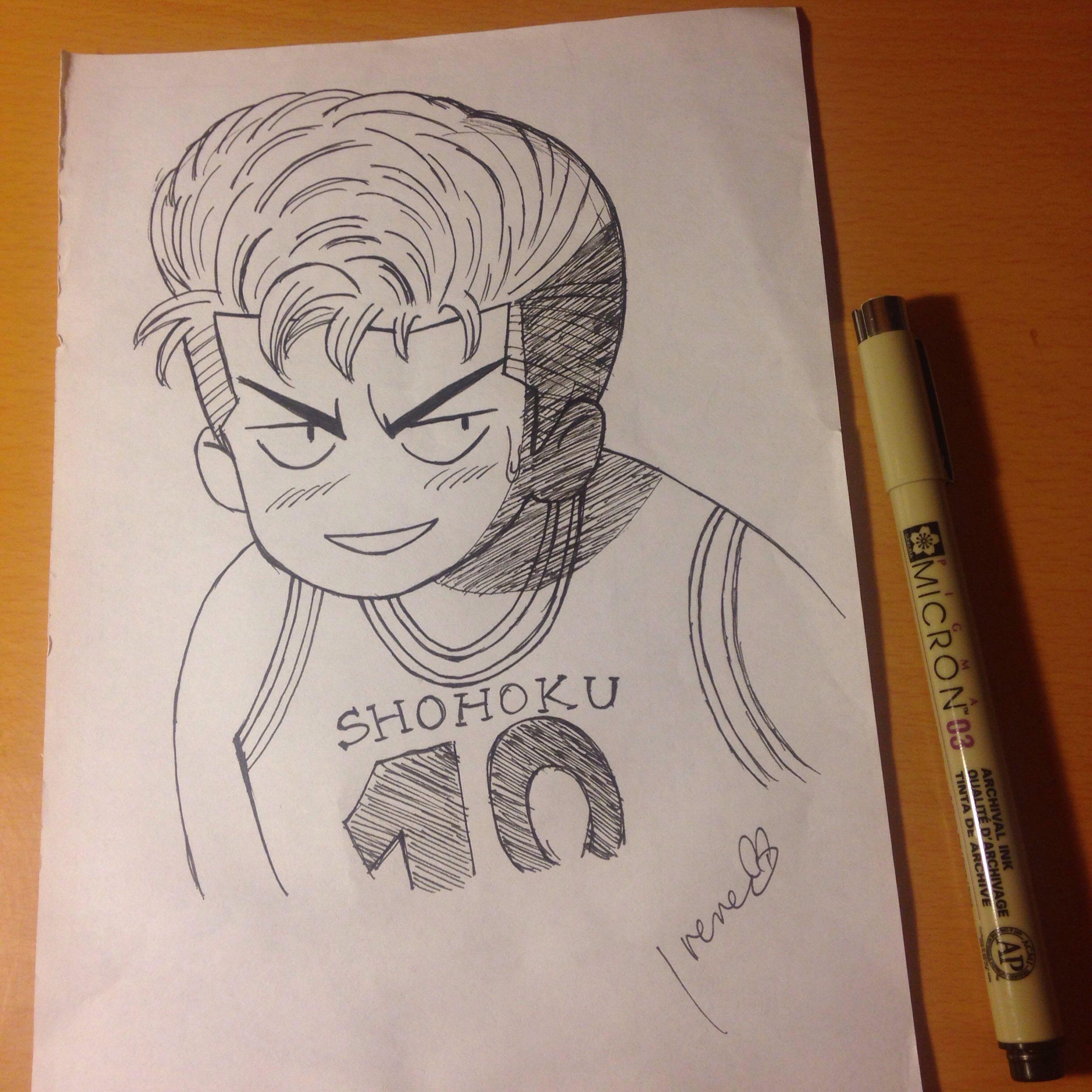Drawing My Drawing Slam Dunk Cartoon Comic Doodle SAKURAGI HANAMICHI