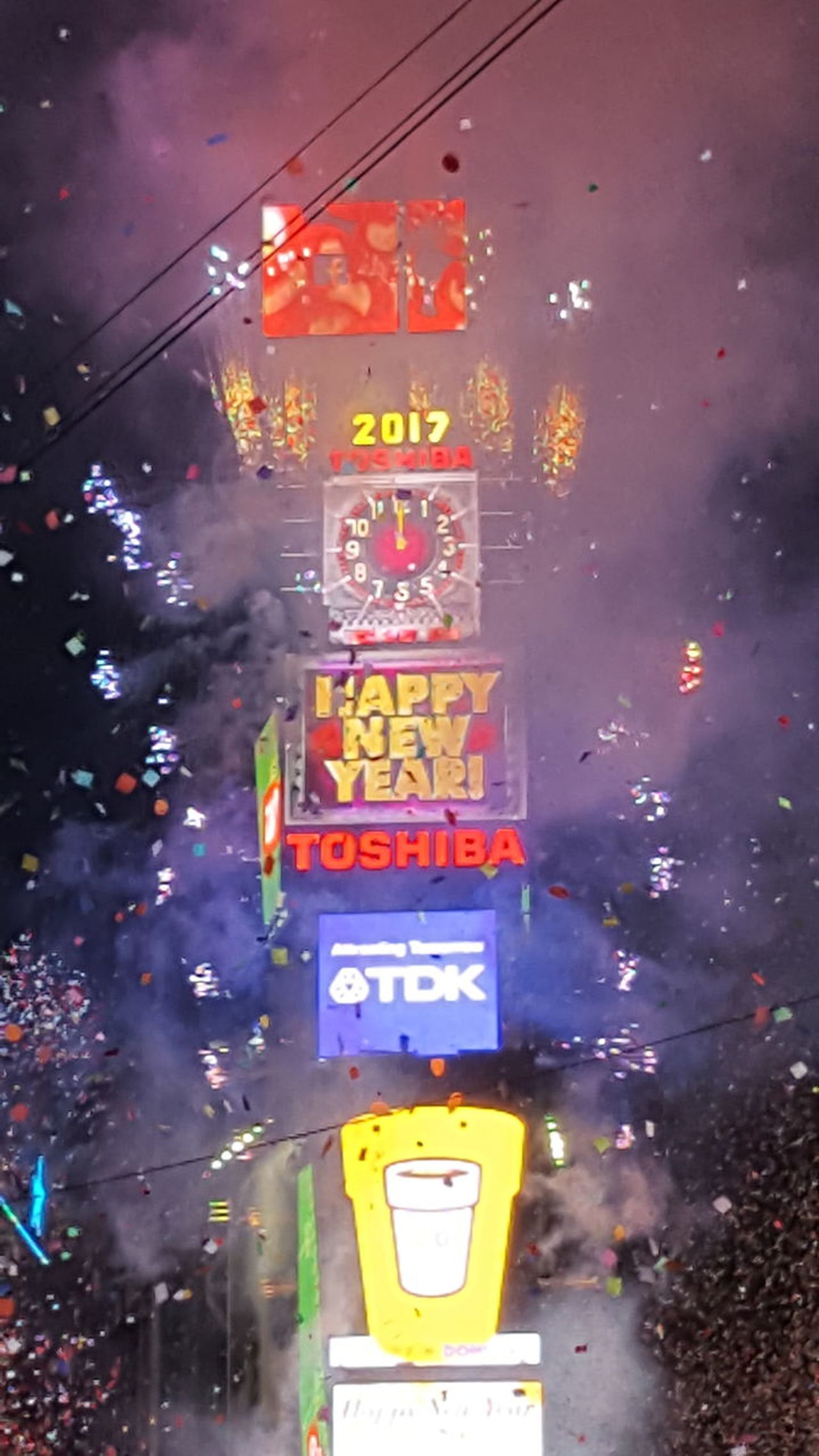 Text No People Illuminated Outdoors Firework Display Celebration New Years Eve 2016 Turning Into 2017 The Ball Drop!